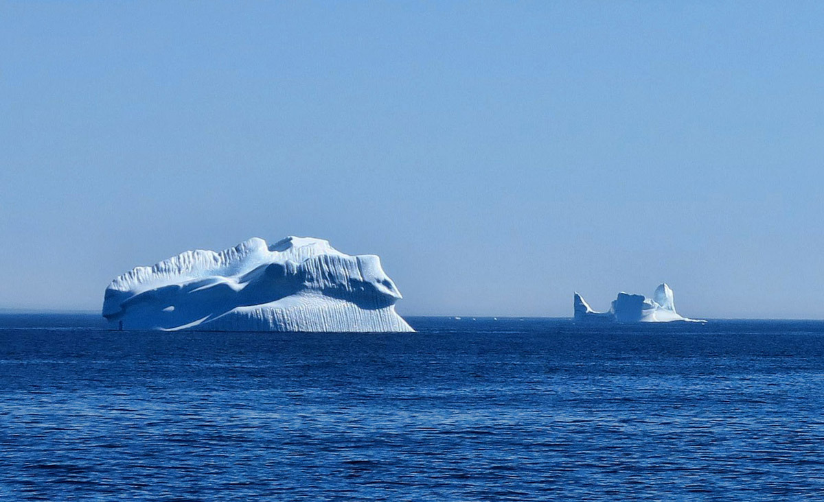 "We pass other smaller icebergs on the way to the ""big one."""