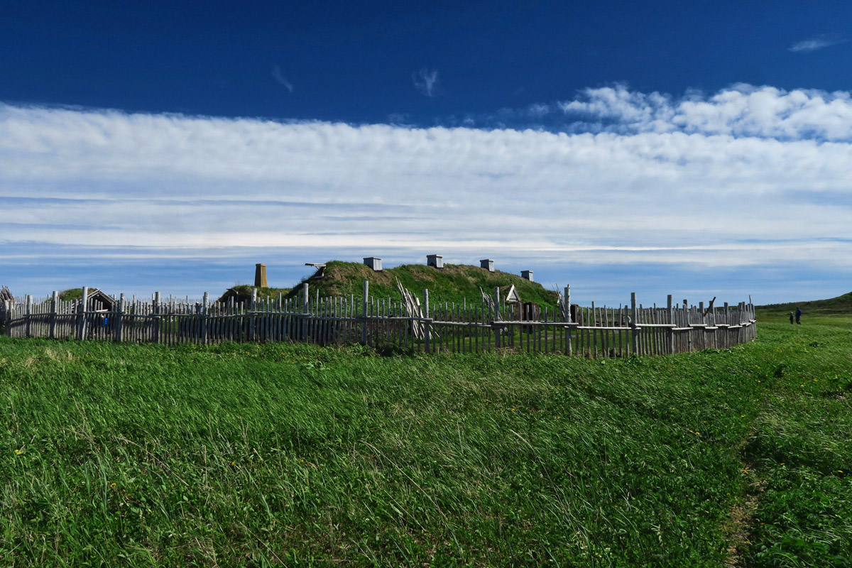 View of the sod house complex.