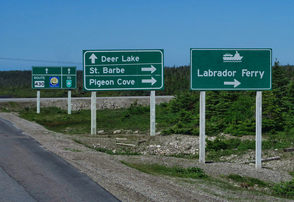 The ferry crossing from St. Barbe, Newfoundland actually arrives south of Labrador in Quebec.