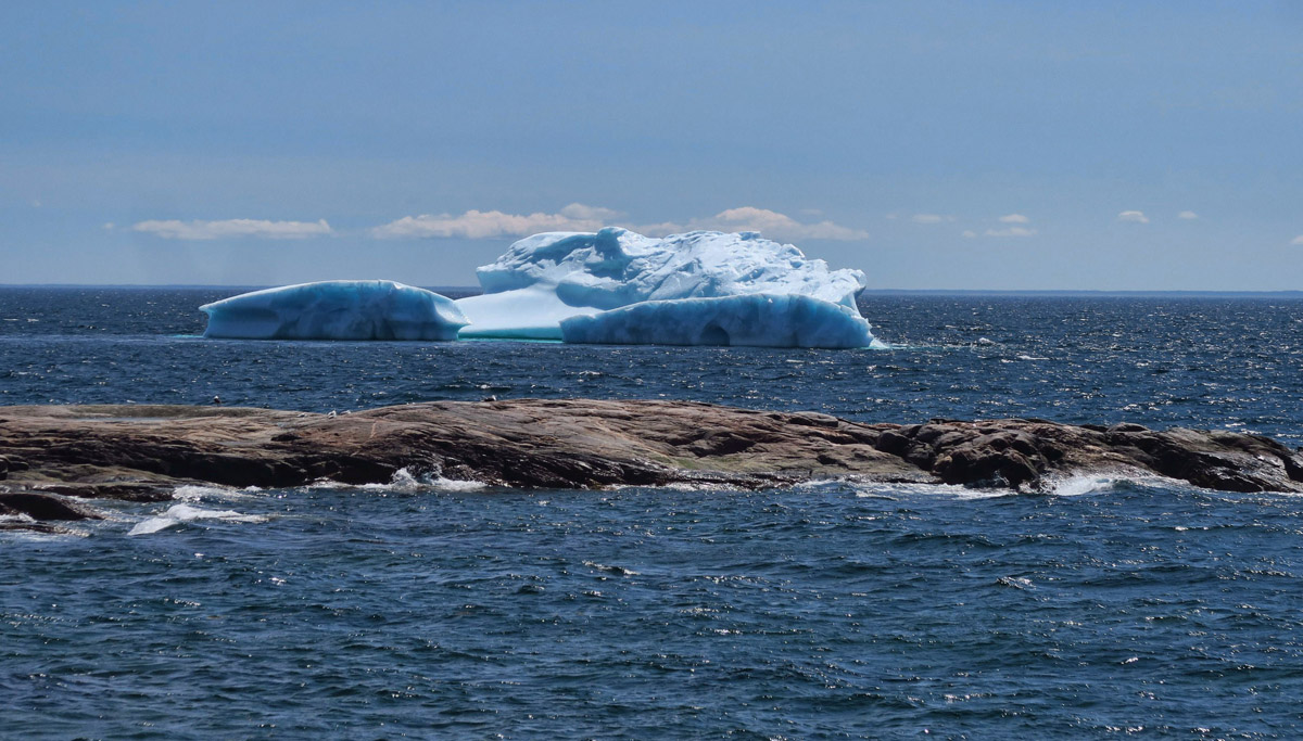 Some icebergs are more blue than others due to light wave absorption.