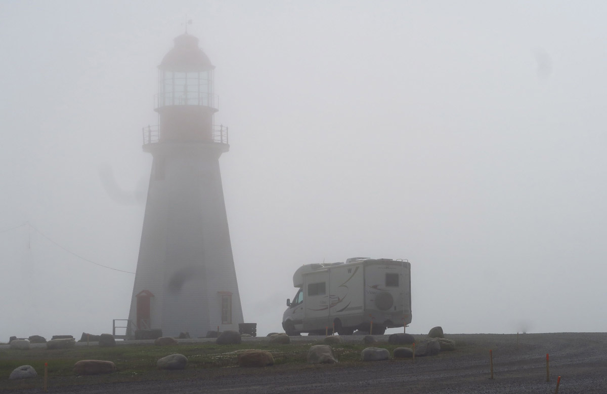Those who liked the fog at the Rose Blanche Lighthouse would enjoy this view.