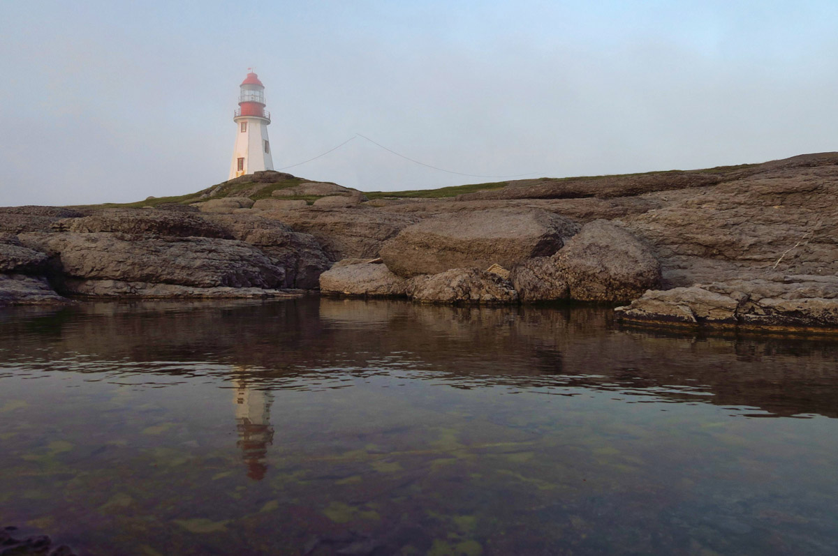 Point Riche Lighthouse, constructed in 1892. It's a working lighthouse, but no access permitted.