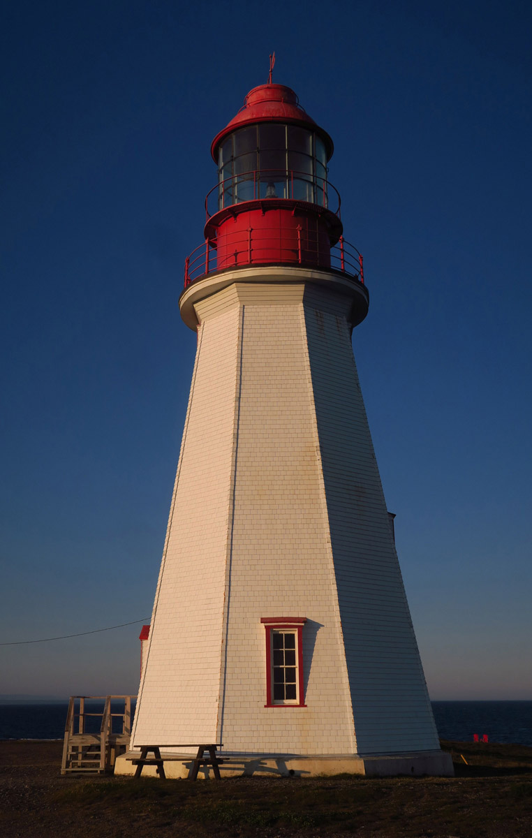 "Point Riche is one of the many ""pepperpot"" style lighthouses found in Newfoundland, named after salt and pepper shakers."