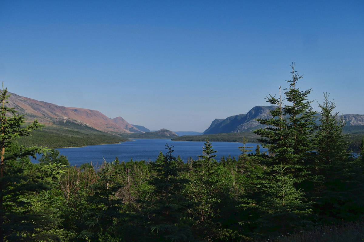 View coming down from Trout River Campground.
