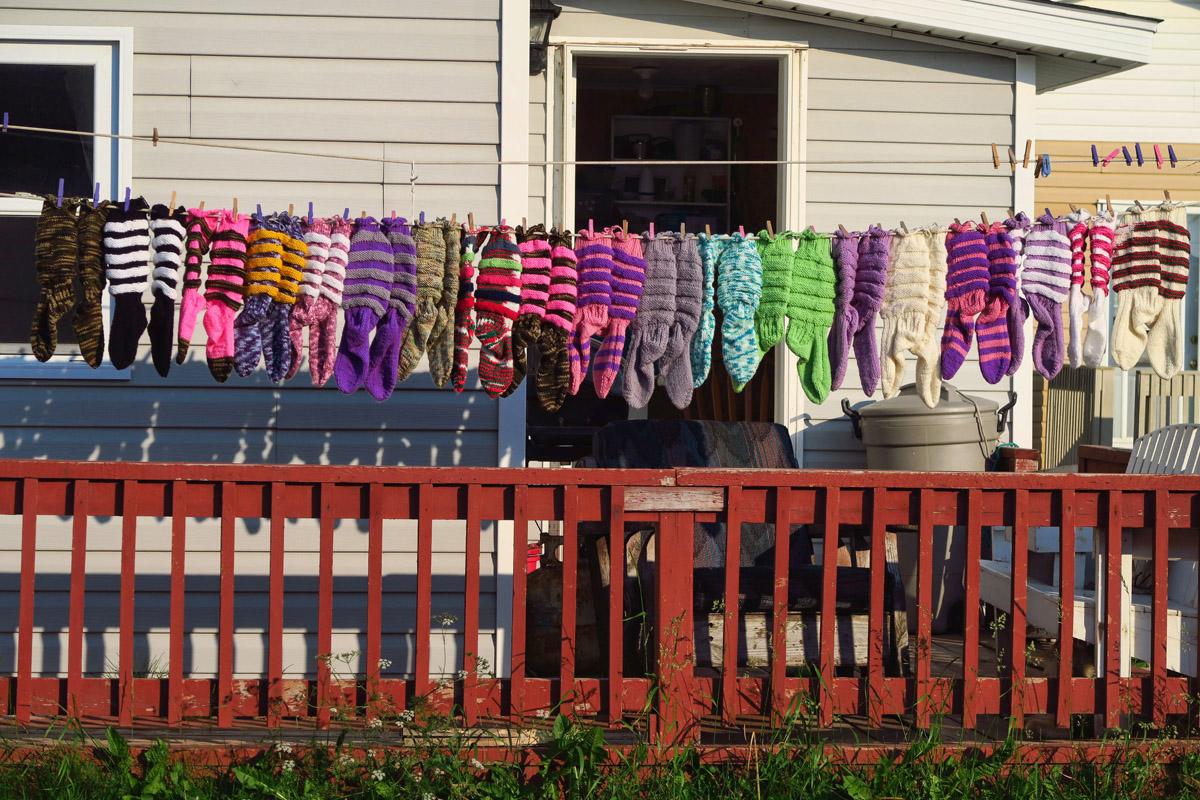 Patsy's Handmade Wool Socks.