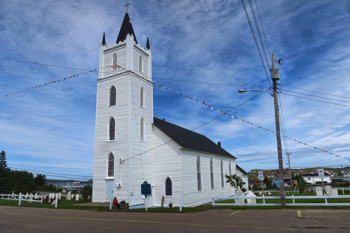 St Peter's Church, , 1842, one of the oldest in Newfoundland.