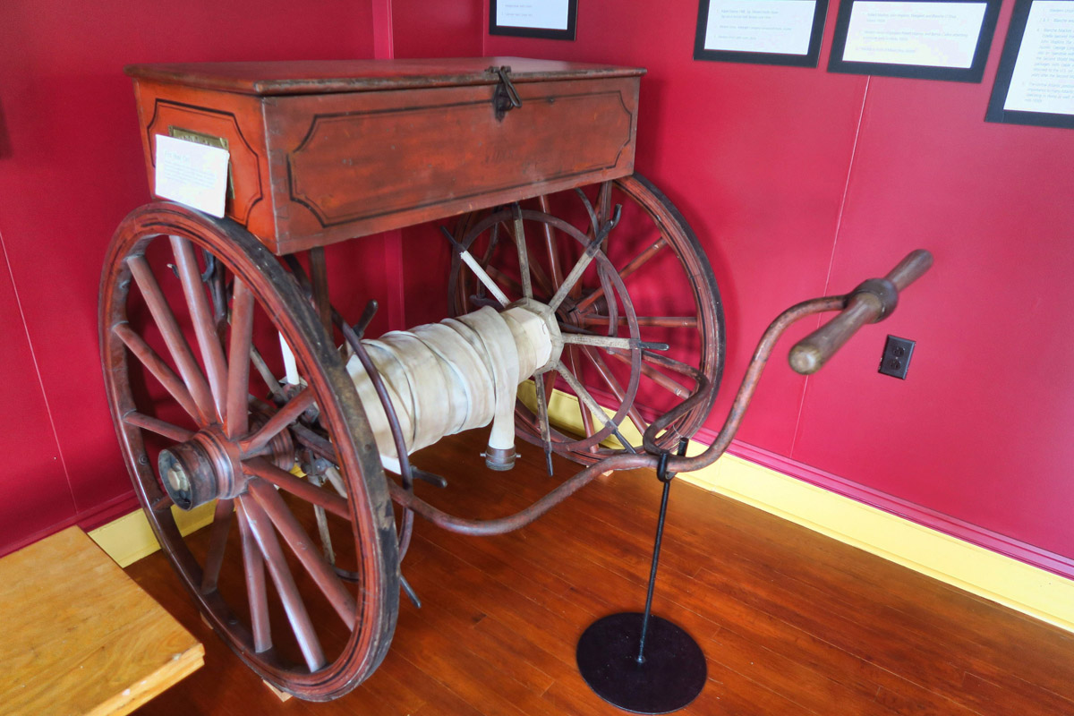 With the money earned through cables sent, the town bought some pretty fancy fire fighting equipment.