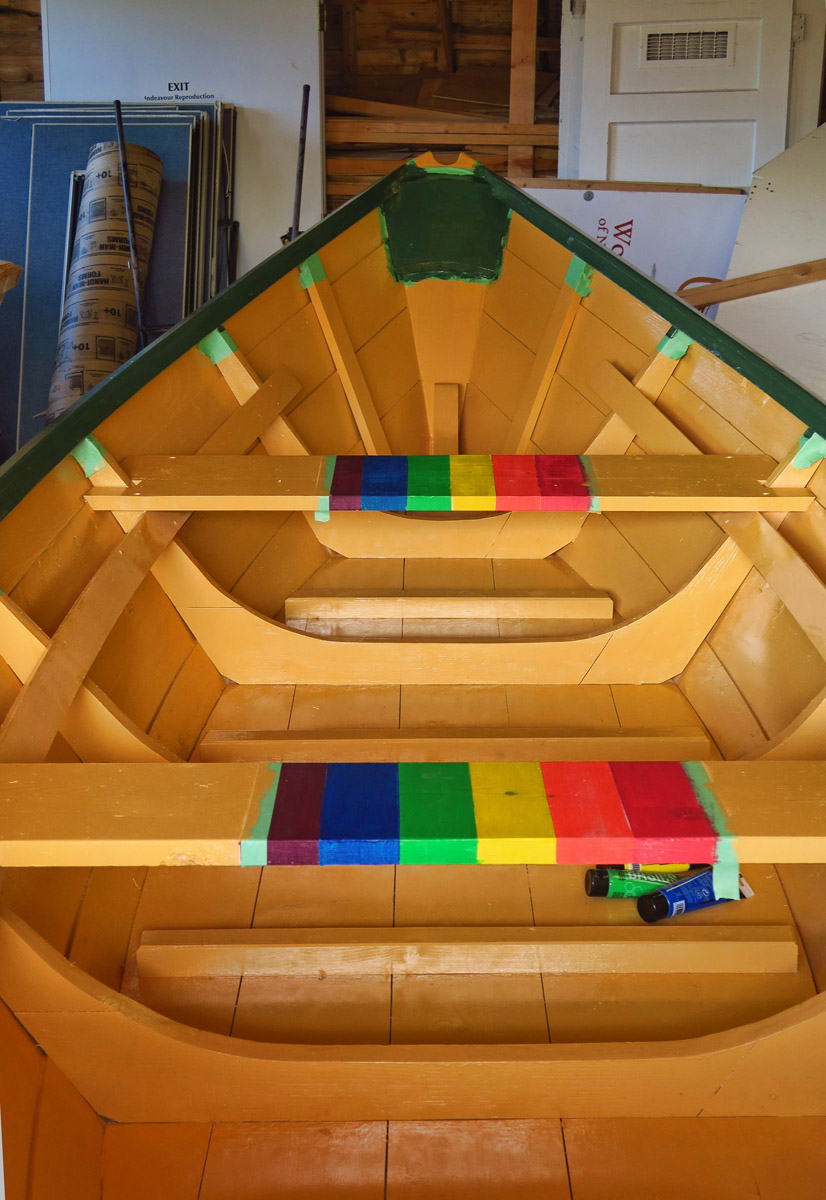 Like the museum in Port Townsend, they engage in community boat building projects. This one was built by the LGBT community of St. John's.