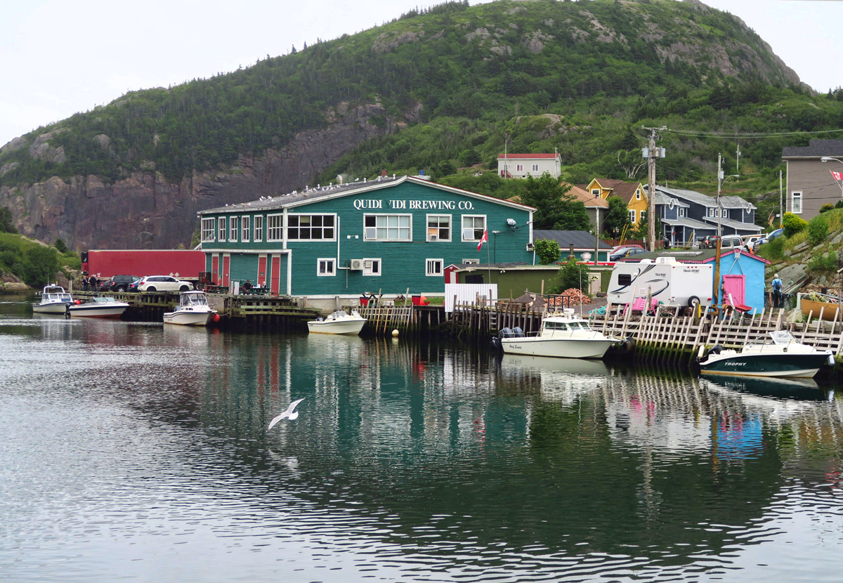 Quidi Vidi Brewery, home of Iceberg Beer, made with water from 15,000 year old icebergs.
