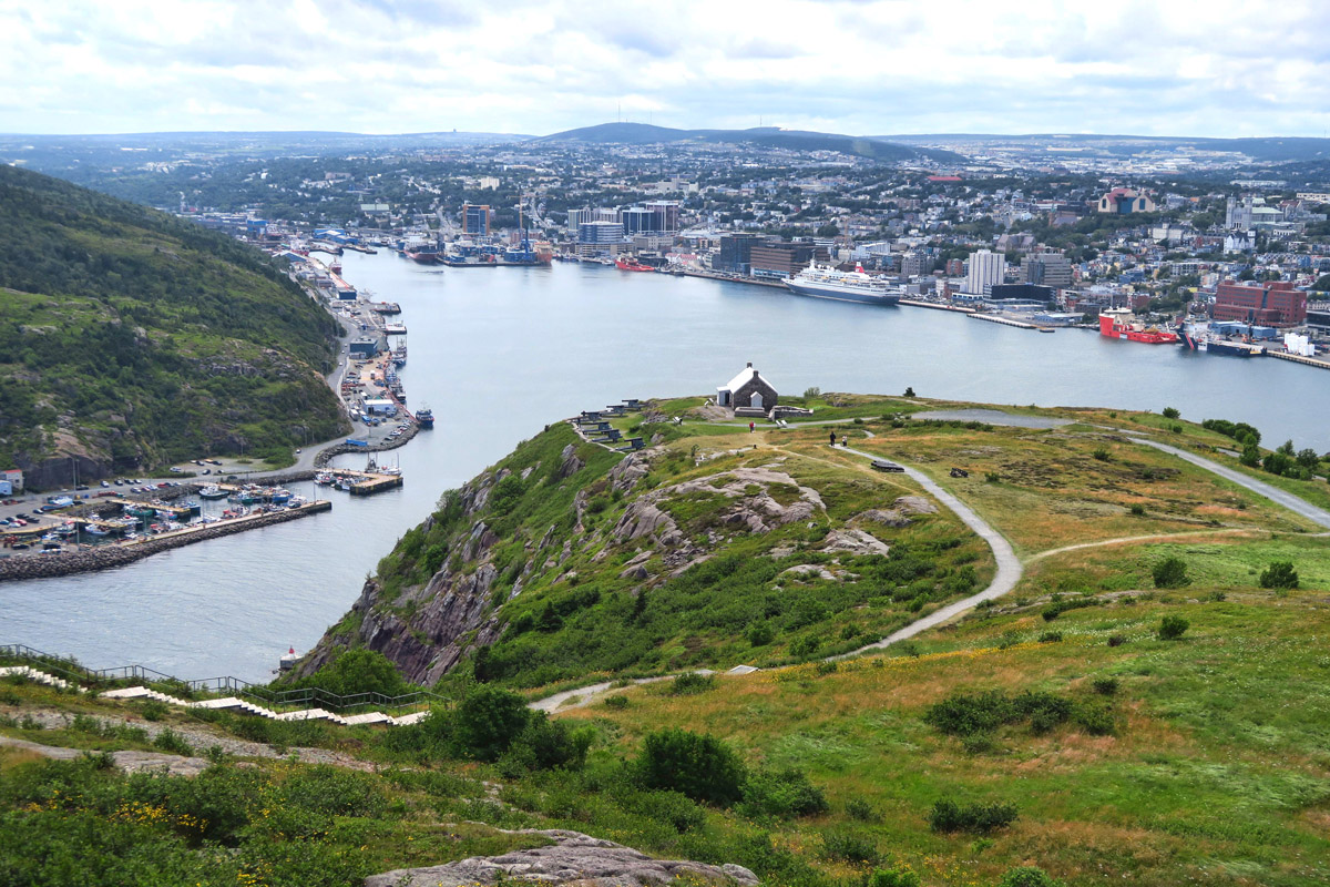 Looking back over St. John's Harbour.