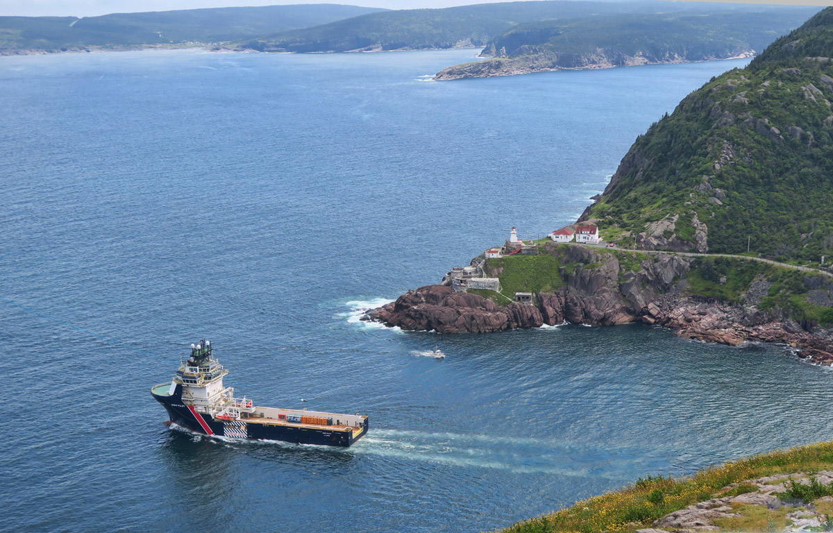 Fort Amherst, site if first lightstaion in Newfoundland, constructed in 1813 at the entrance to St. John's harbour.