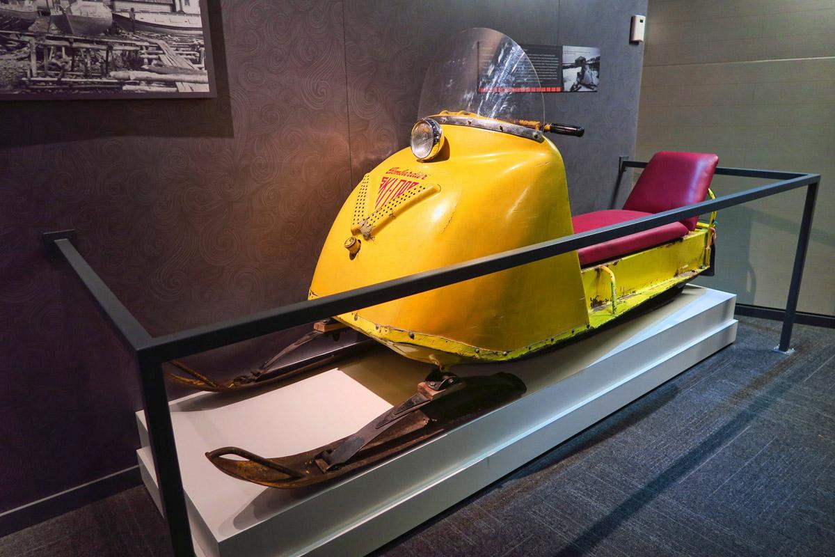 "Snowmobile, circa 1965. Newfies call them ""Ski-doos."""