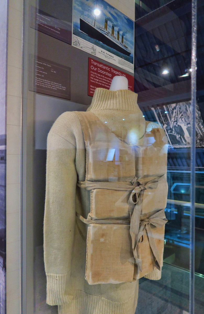 Life vest from the Titanic.