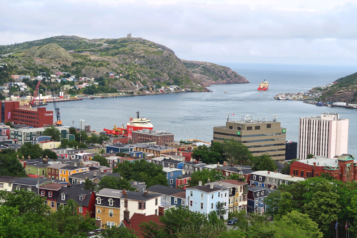 Located high up on a hill, the museum offers several observation decks to look down on the town of St. John's.