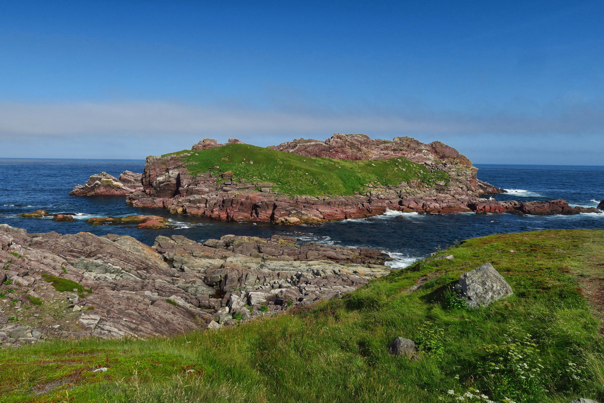 This island off the promontory is a haven for birds.