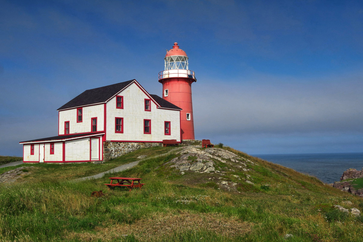 Arriving at the Ferryland Lighthouse, built 1870.
