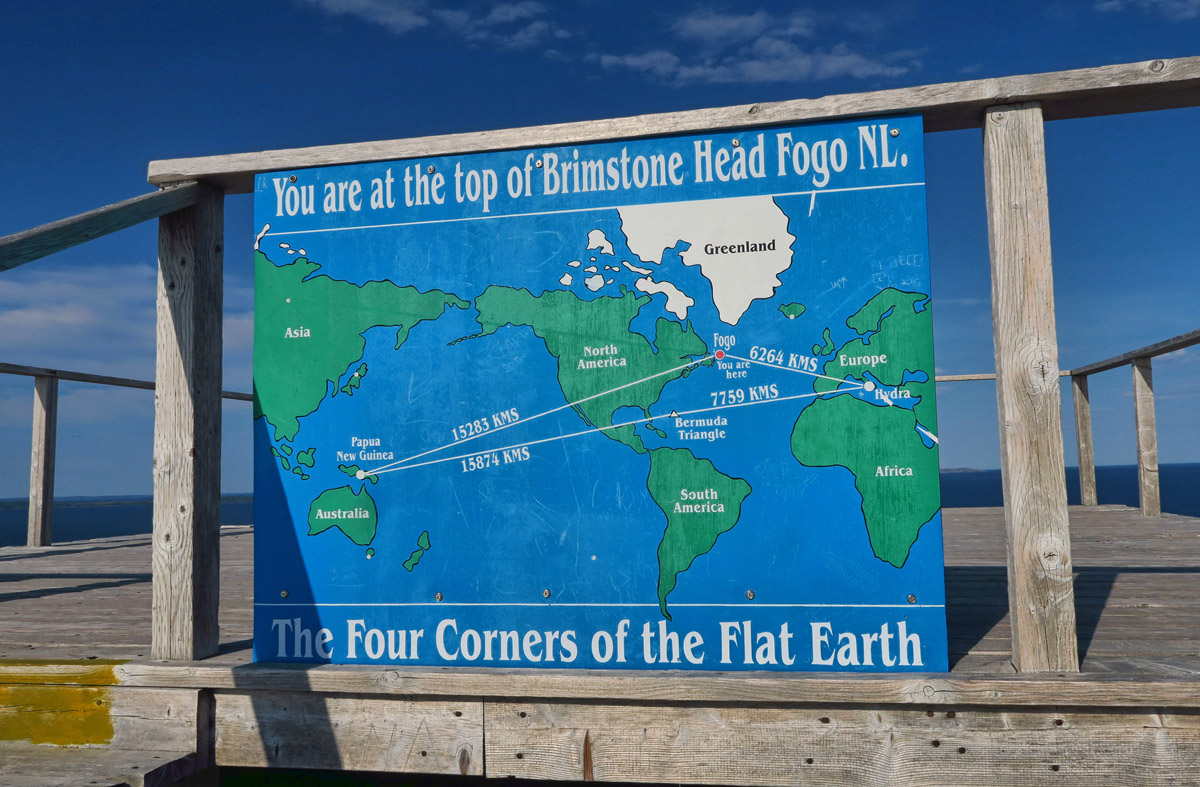 "Who knew there was a ""Flat Earth Society?"" Turns out Brimstone is one of the four corners. ;-)"