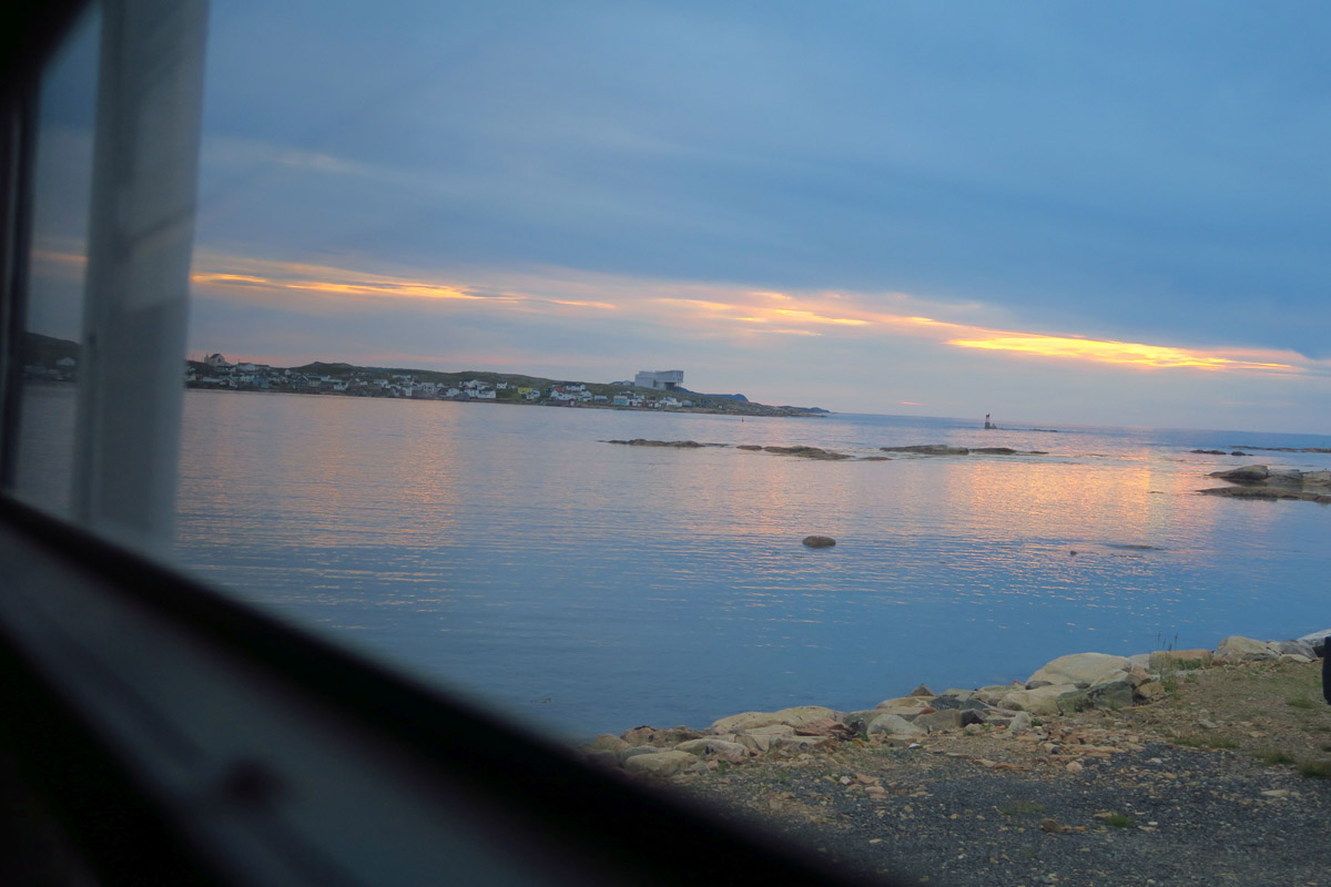 This was my view from one of my favorite boondocks on Fogo Island.
