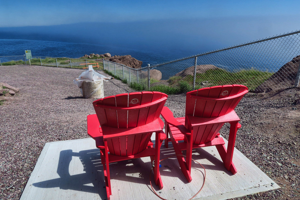 Easternmost Point of North America (site under construction, yet still have a seat to reflect where you are.)