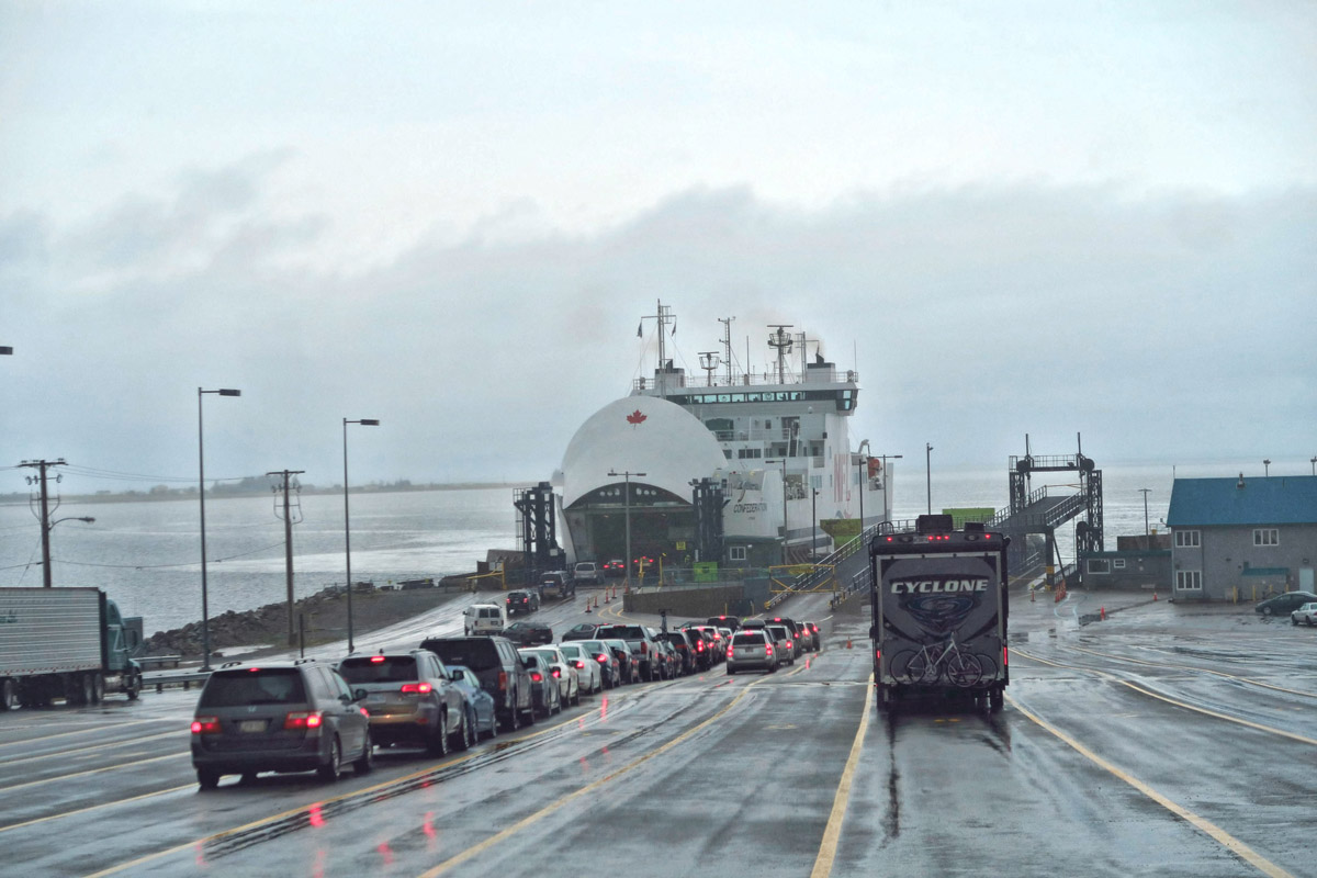 Crossing the 75-minute ferry from Caribou, Nova Scotia to Wood Islands, Prince Edward Island