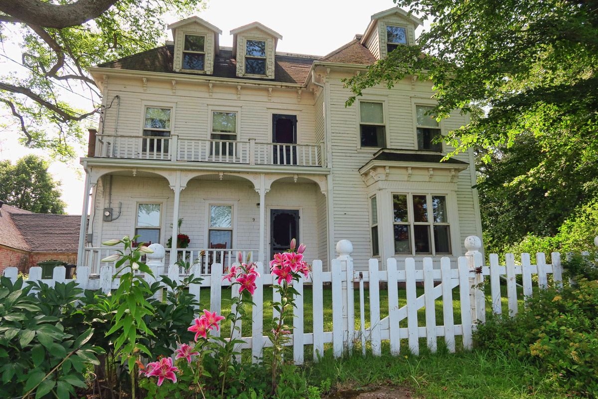 One of the many beautiful homes in Victoria-by-the-Sea, a historic town along PEI's south shore.