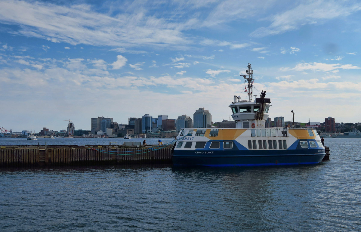 For less than $3, one can take the commuter ferry across the bay to the harbour of Dartmouth.
