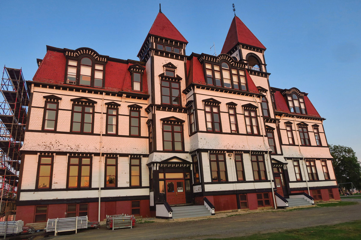 The Lunenburg Academy, built 1895, now houses several foundations, including a music school.