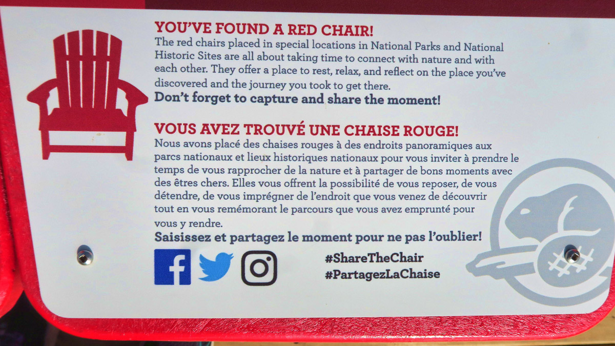 "The Red Chair Campaign encourages you to ""reflect on the place you've discovered and the journey you took to get there."""
