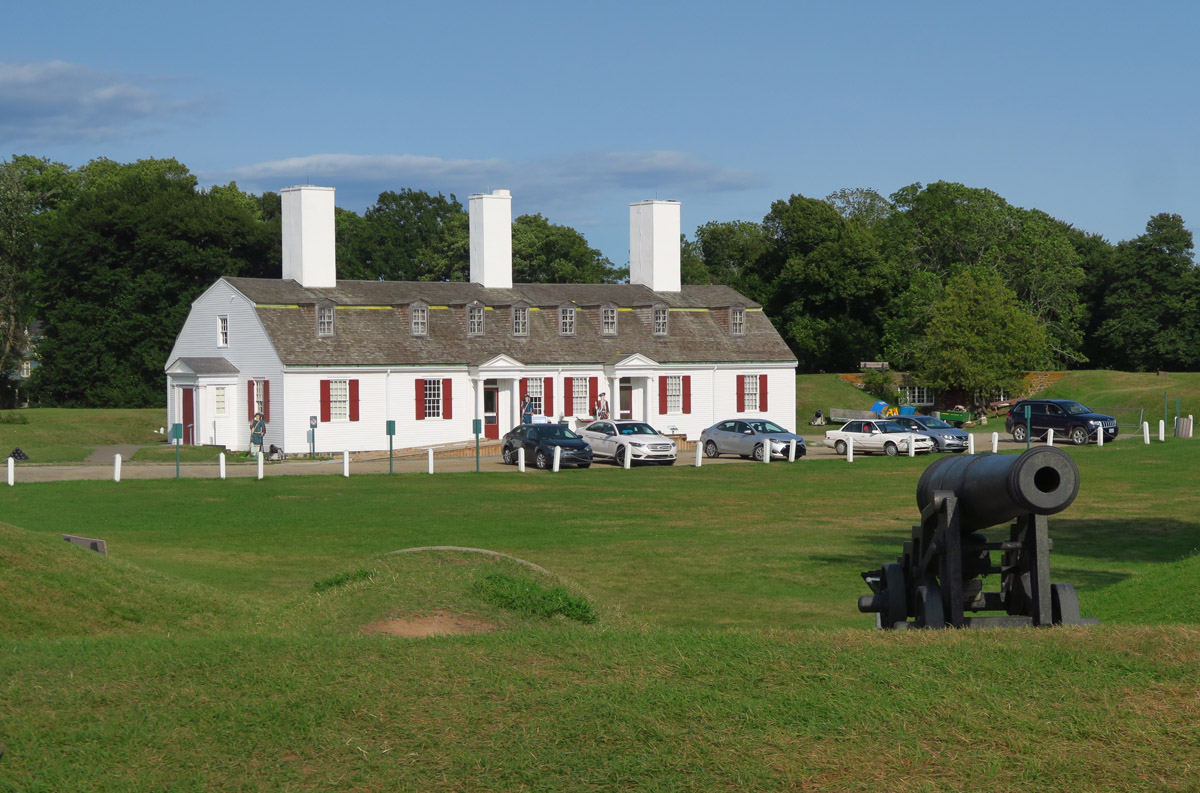 Within the town of Annapolis Royal is Fort Anne National Historic Site, replica of early Acadian settlement with remains of 1635 French fort.
