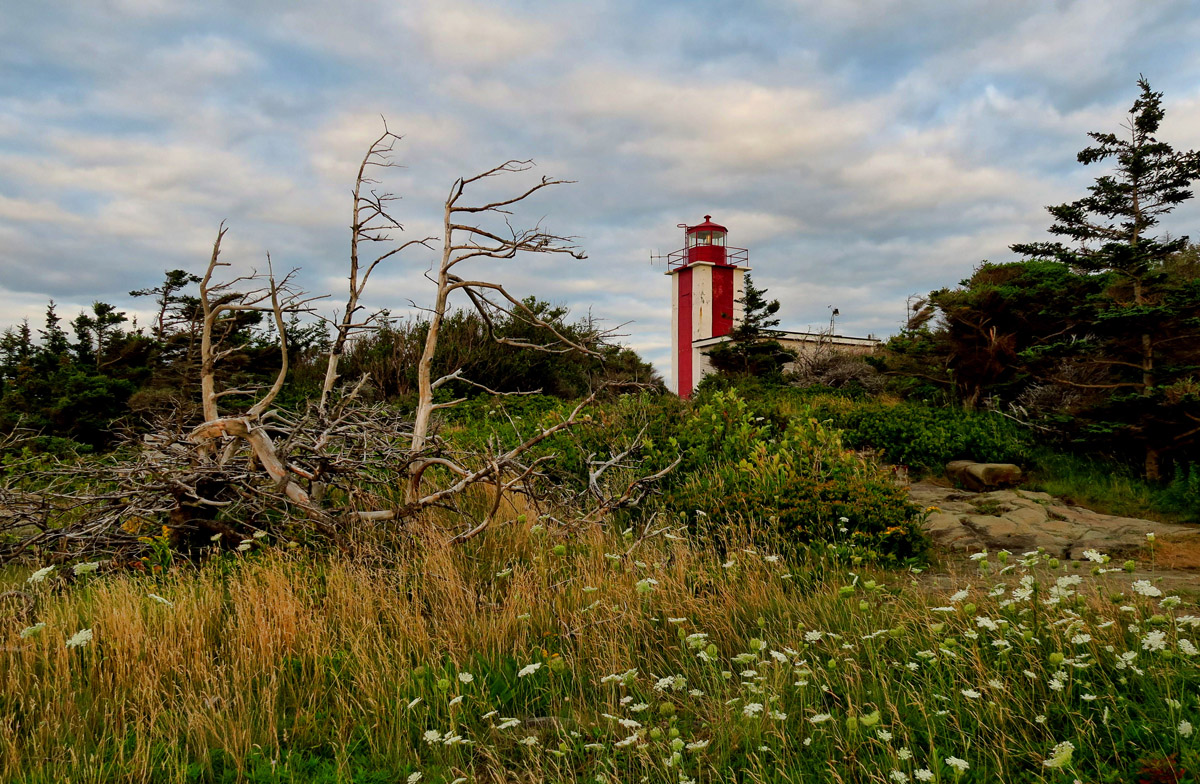 Point Prim Lightstation, Digby, NS, stands watch over the Digby Gut and Annapolis Basin.