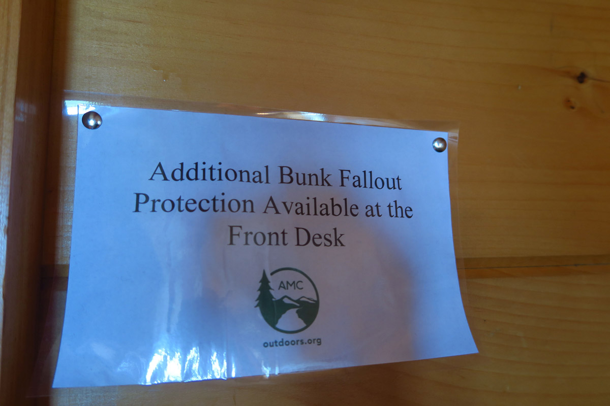 "I was relieved to have arrived early enough so as to secure a bottom bunk, thereby not needing ""bunk fallout protection."""
