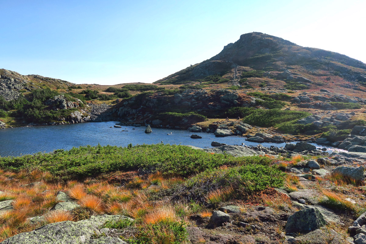 """Lake of the Clouds is surrounded by many small """"lakes"""" that the trail passes the following morning."""