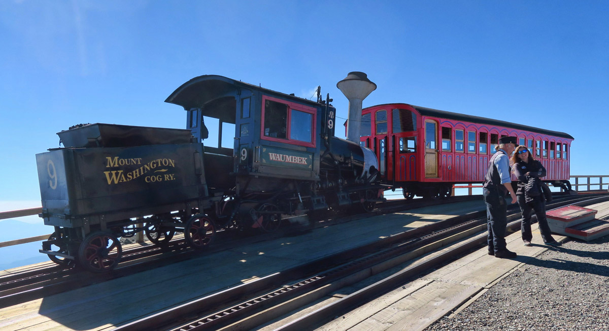The Mount Washington Cog Railway, the first mountain climbing cog railway in the world, has been bringing passengers to top of the highest peak in the Northeast since 1869.