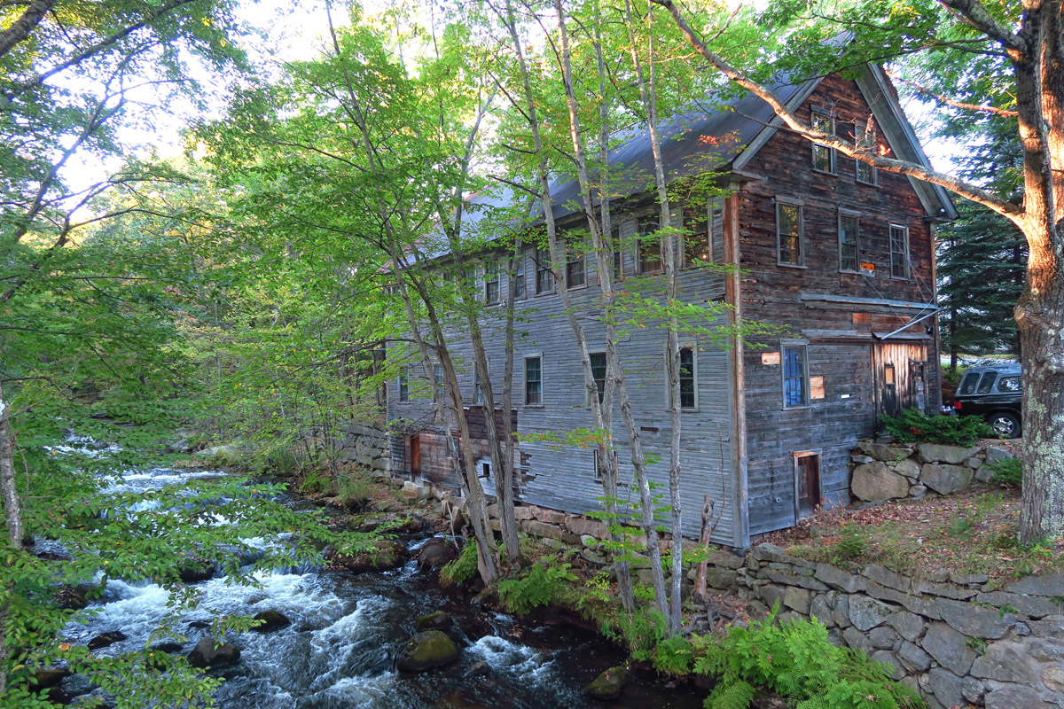 Bridgton was once a thriving mill town, and evidence of this can be seen along Stevens Brook.