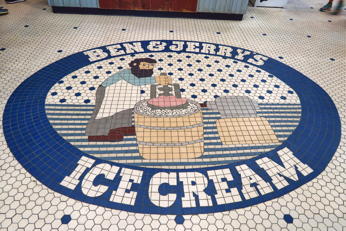 Waterbury, VT, home of Ben & Jerry's Ice Cream.