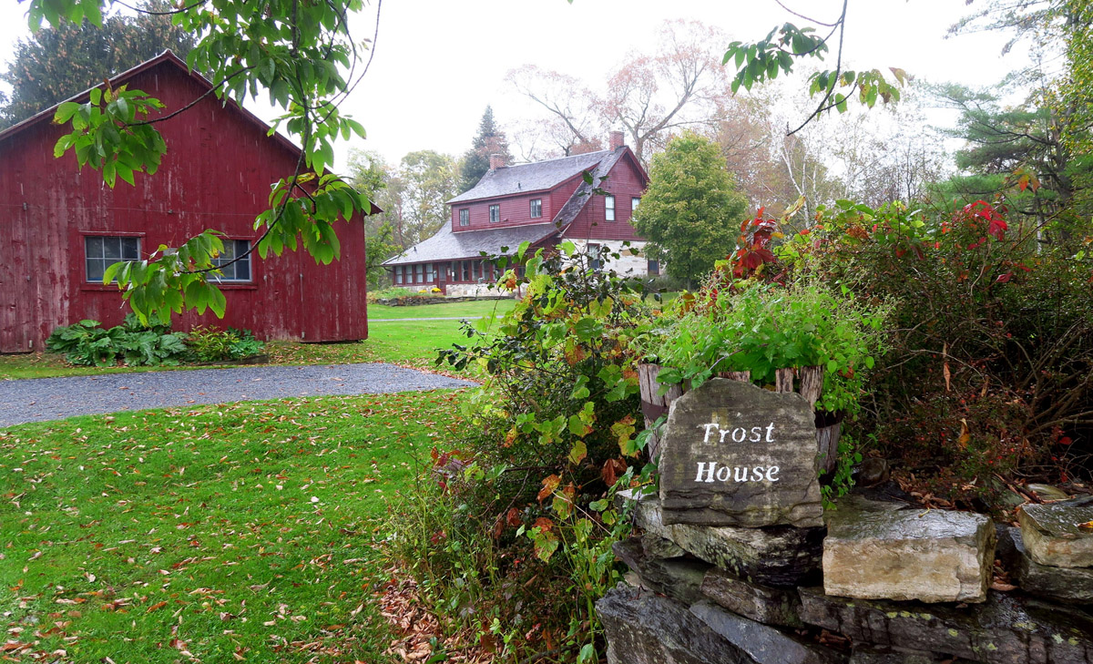 "The ""Frost House,"" or Robert Frost Stone House Museum, where Robert Frost lived from 1920-1929."
