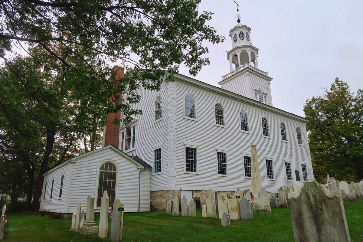 """The cemetery next to the church known as """"God's Sacred Acre"""" was founded in 1766."""