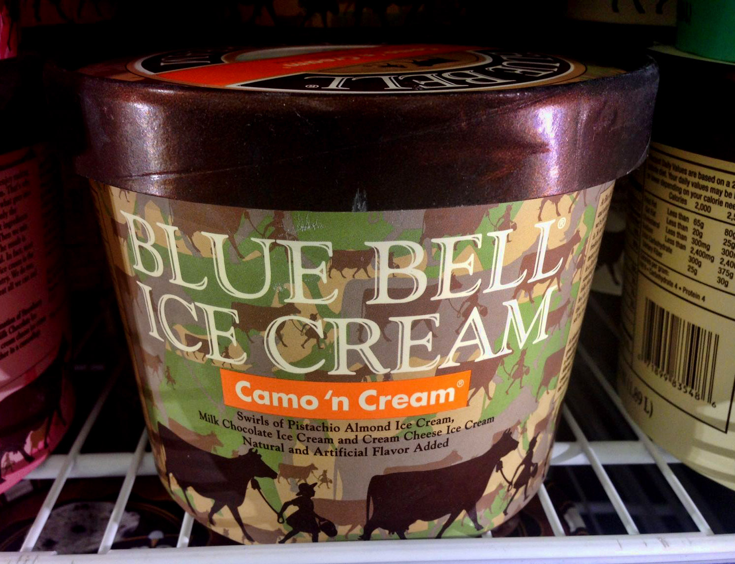 You know you're in Texas when even the ice cream wears camo!