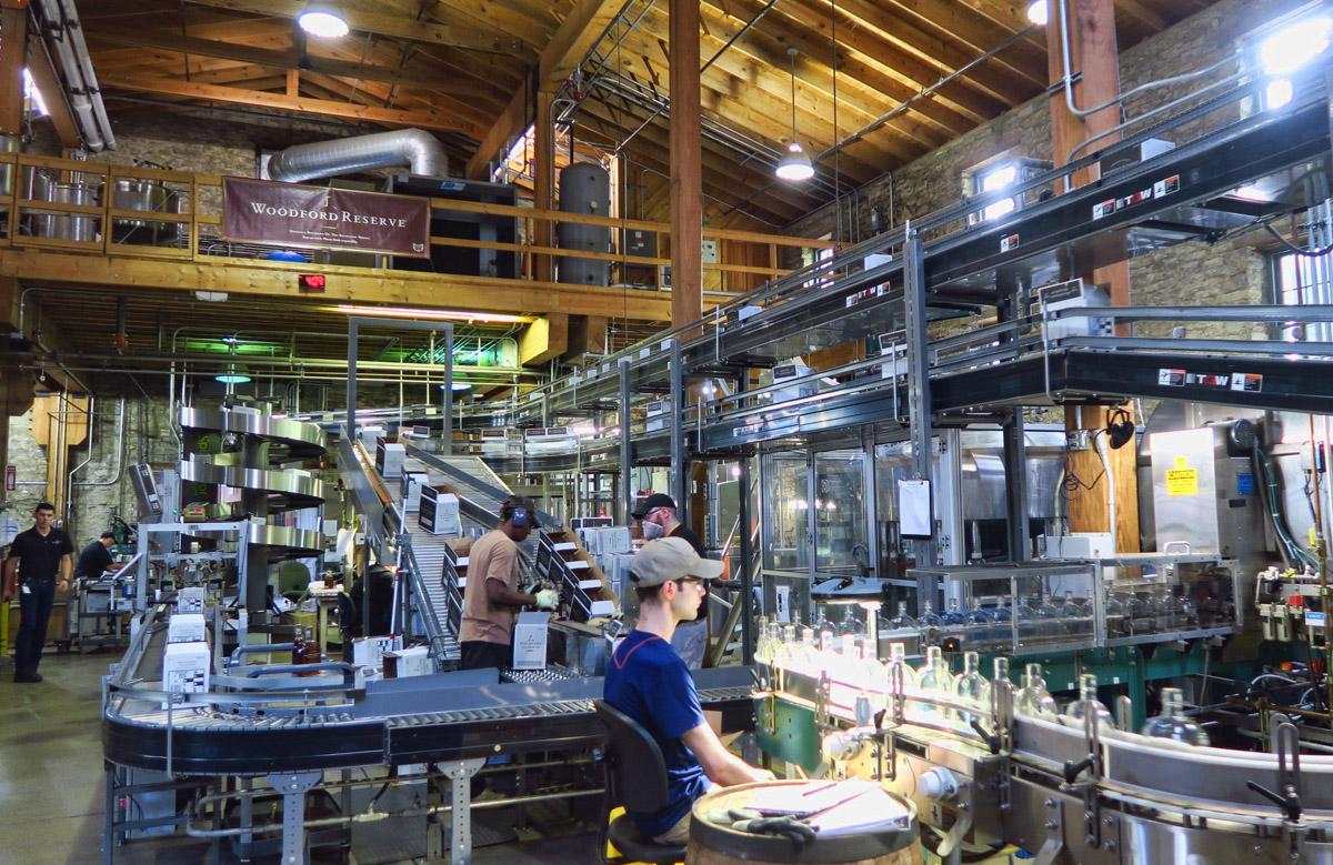 Bottling room bottles approx 100 bottles per hour.