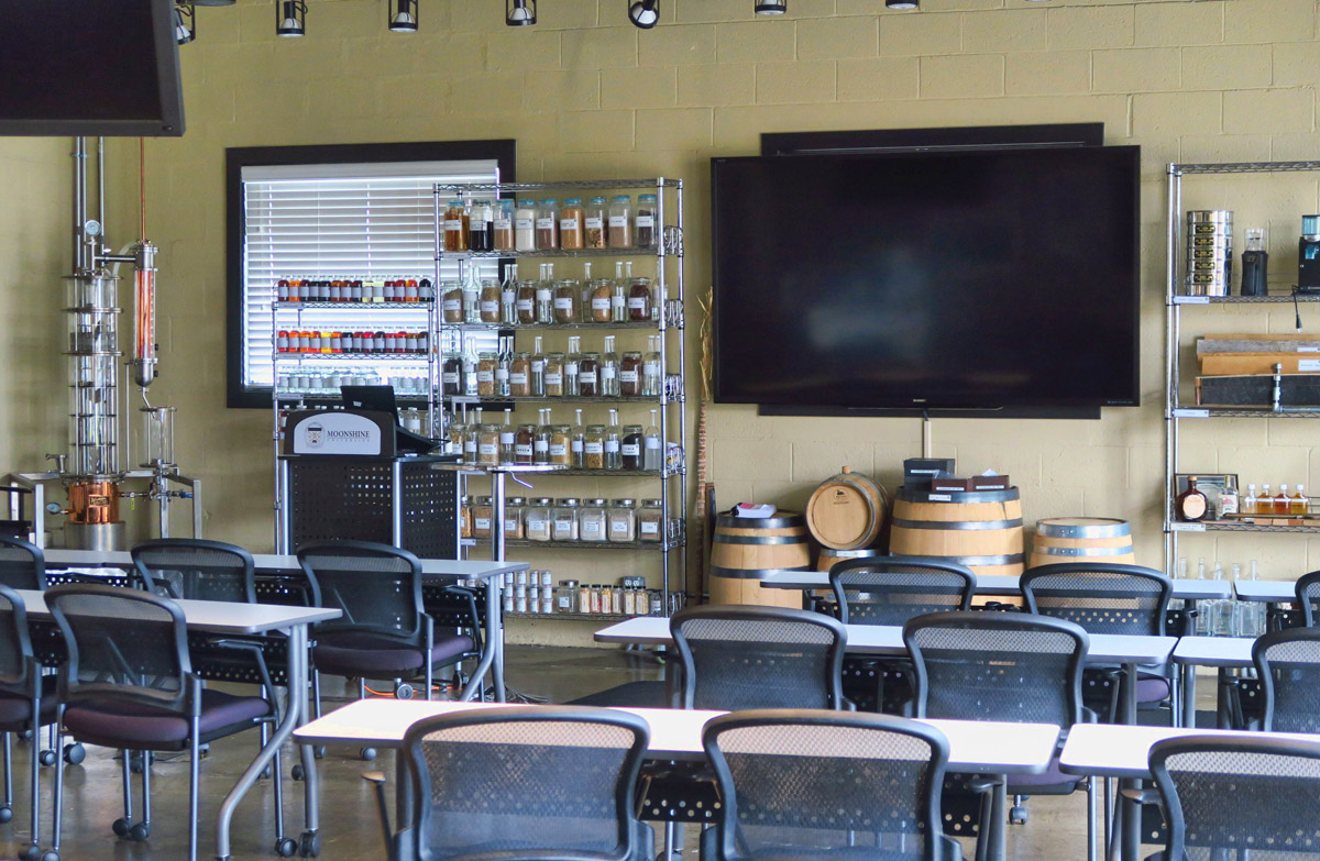"Louisville is home to ""Moonshine University"" offering multiple levels of instruction from a hands on introduction to a five day distiller's course."