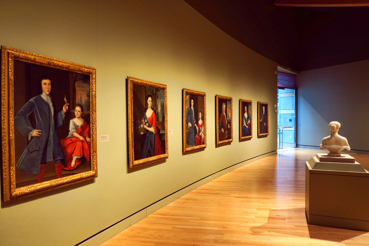 The museum's permanent collection features American art from the Colonial era to the contemporary period. All of the featured artists are United States citizens.