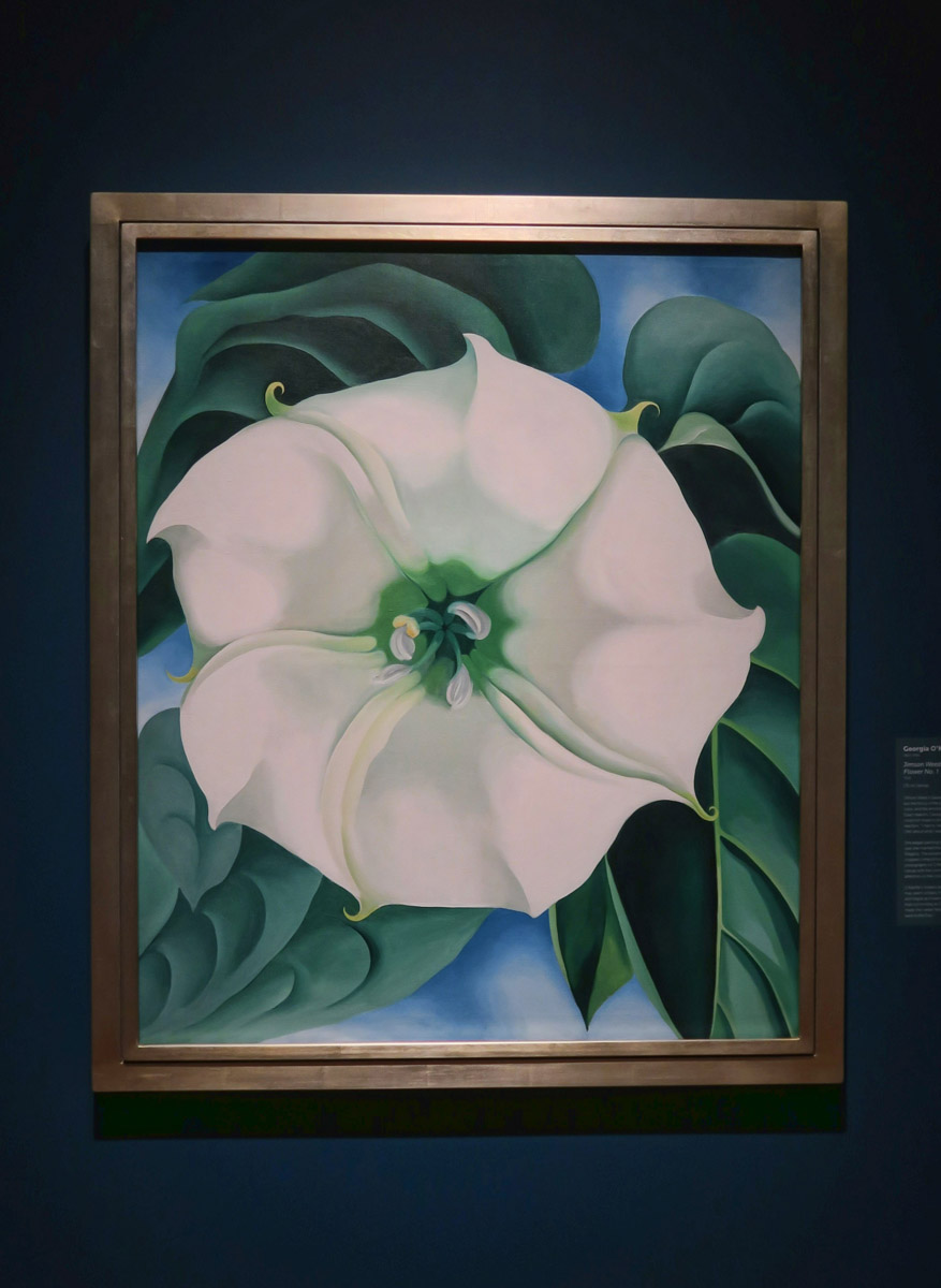 "Remarkable that Georgia O'Keeffe's Jimson Weed/White Flower No. 1 is the ""World's most expensive painting by a woman,"" purchased for $44.4 million."