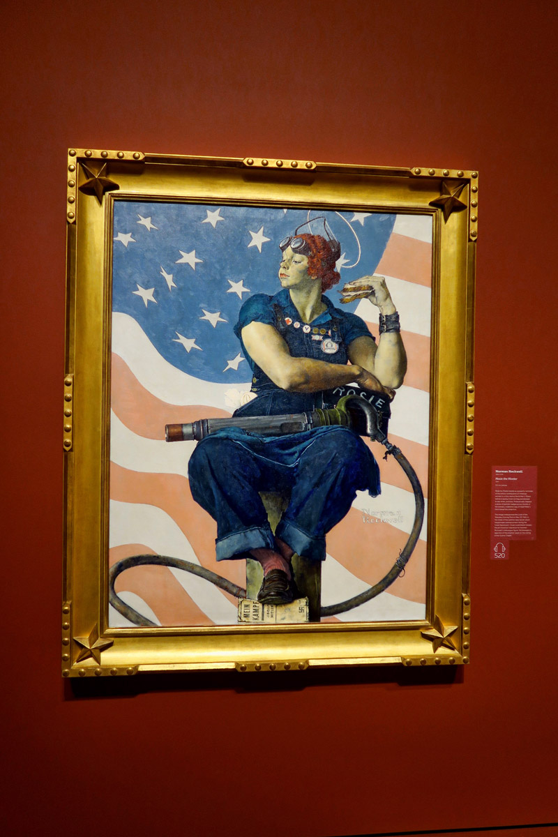 "Norman Rockwell's  Rosie the Riveter,"" 1943."