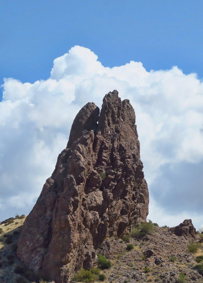 """Praying Hands"" rock, Superstition Mountains."