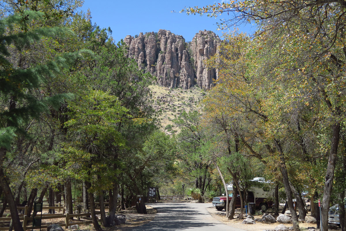 The quiet, intimate Bonita Canyon Campground, only 25 sites.