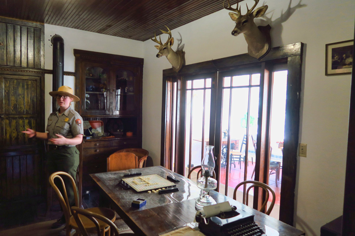 Ranger tours offered twice daily inside Faraway Ranch.