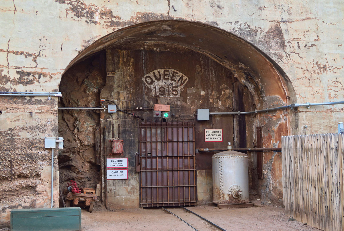 The doors to the Queen Mine beckon...