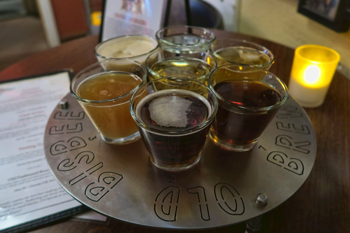 A tasting flight of gateway beers...