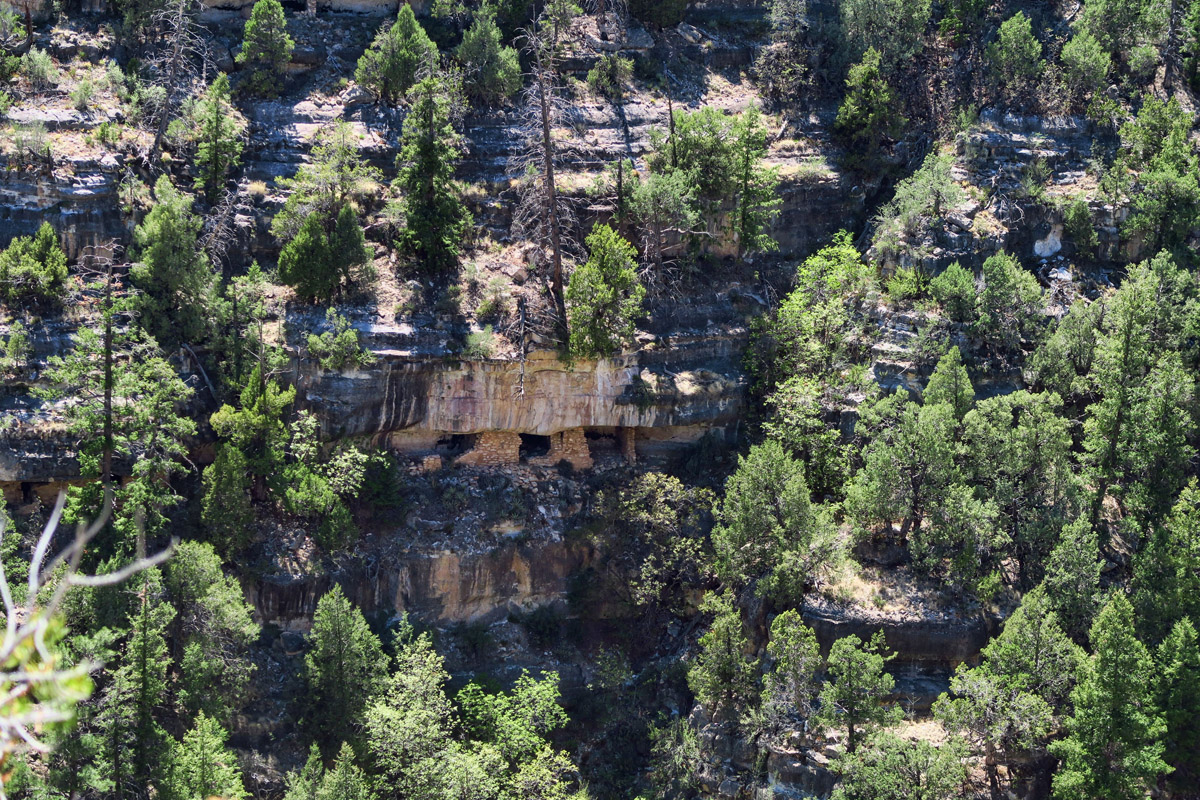 These terraced ledges made an ideal location for cliff dwellings.