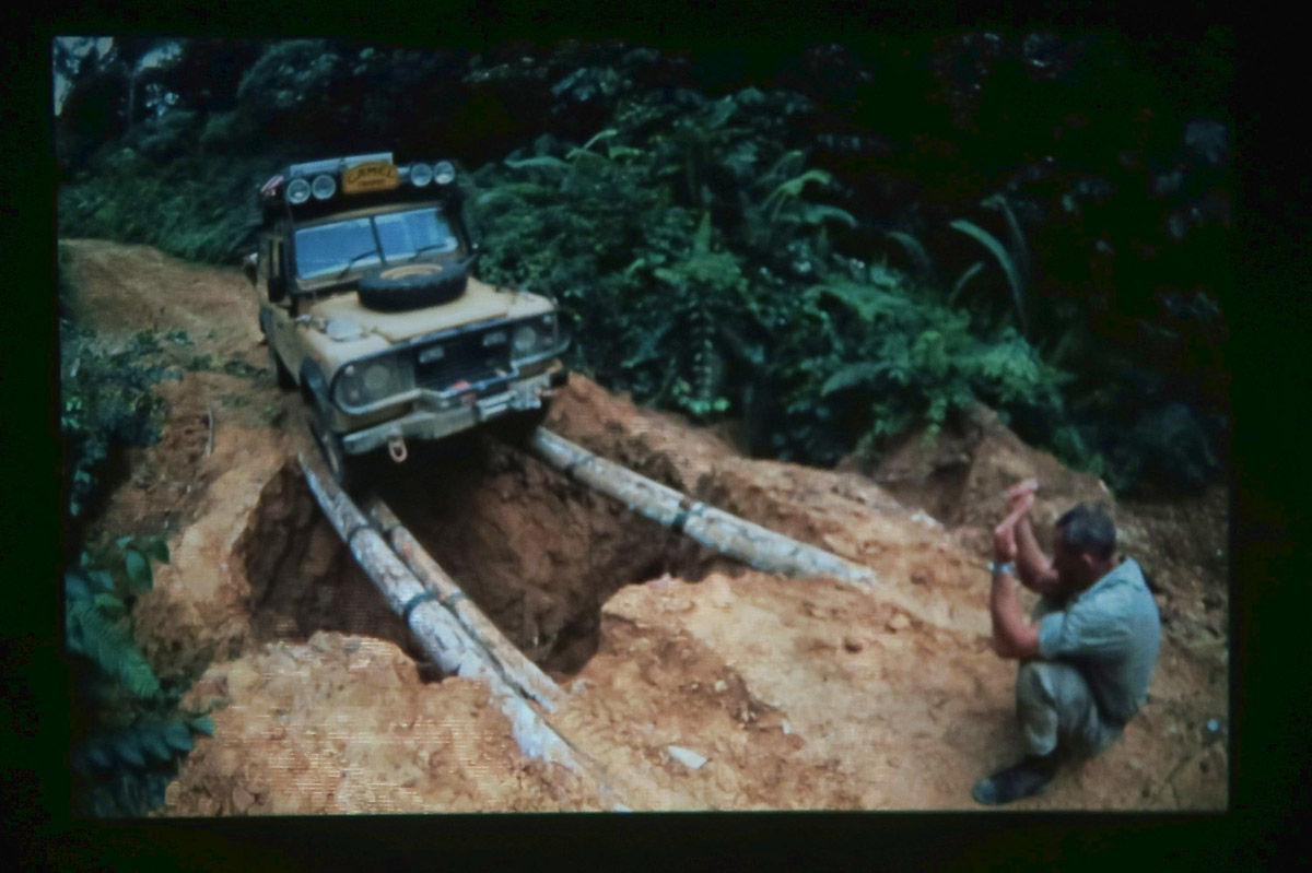 Another picture of a picture from Tom's slide show, this one building a bridge...